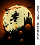 halloween witch vector | Shutterstock .eps vector #38206906