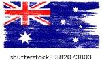 grunge flag of australia... | Shutterstock .eps vector #382073803