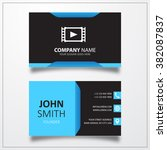 film play icon. business card...