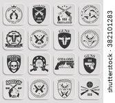 classic guns emblem  | Shutterstock . vector #382101283
