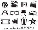 set of twelve vector icon...   Shutterstock .eps vector #382130017