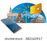 european union mobile service | Shutterstock .eps vector #382163917