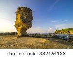 rock at pantai batu payung  ... | Shutterstock . vector #382164133