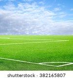 football field against the sky | Shutterstock . vector #382165807