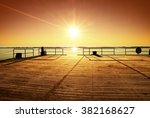 Empty Wooden Pier At Beautiful...