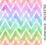 Chevrons Of Rainbow Colors On...