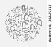 smoothie vector round... | Shutterstock .eps vector #382192813