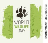 world wildlife day. vector... | Shutterstock .eps vector #382200313