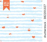 vector seamless pattern hand... | Shutterstock .eps vector #382201327