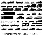 car icons set. linear style fun ... | Shutterstock .eps vector #382218517