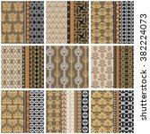 mega set of victorian vintage... | Shutterstock .eps vector #382224073