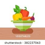 salad ingredients vector set.... | Shutterstock .eps vector #382237063