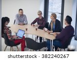 startup business team on... | Shutterstock . vector #382240267