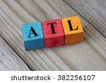 atl   atlanta airport ... | Shutterstock . vector #382256107