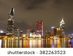 ho chi minh city by night  long ... | Shutterstock . vector #382263523