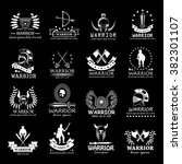 warriors icons set isolated on... | Shutterstock .eps vector #382301107