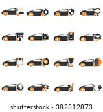 car service simply icons for... | Shutterstock .eps vector #382312873