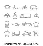 collection of icons... | Shutterstock .eps vector #382330093