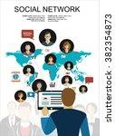 global social network abstract... | Shutterstock .eps vector #382354873