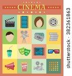 cinema icons. films. week end. | Shutterstock .eps vector #382361863
