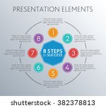 steps to succes. circle coloful ... | Shutterstock .eps vector #382378813