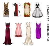 set of fashion flat templates