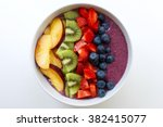 healthy and colorful breakfast...   Shutterstock . vector #382415077