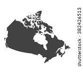 vector map canada | Shutterstock .eps vector #382426513