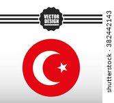 flag  icon design  | Shutterstock .eps vector #382442143