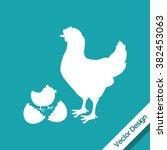 farm icon design  | Shutterstock .eps vector #382453063