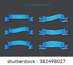 ribbon set.ribbon banner vector ... | Shutterstock .eps vector #382498027