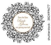 romantic invitation. wedding ... | Shutterstock . vector #382499677