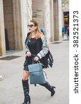 milan  italy   february 26 ... | Shutterstock . vector #382521373