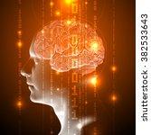 concept of active human brain...   Shutterstock .eps vector #382533643
