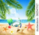 summer beach | Shutterstock .eps vector #382547917