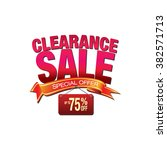 clearance sale banner. sale and ... | Shutterstock .eps vector #382571713