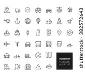 transportation outline icons... | Shutterstock . vector #382572643