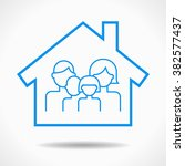 home and family icon. file is... | Shutterstock .eps vector #382577437