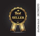best seller golden label ... | Shutterstock .eps vector #382580293