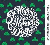 happy st. patrick's day  ... | Shutterstock .eps vector #382587457