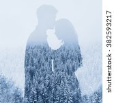 Love In Winter  Silhouette Of...
