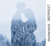 Love In Winter  Silhouette Of...