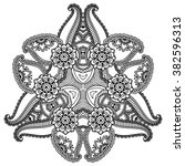 vector henna tatoo mandala.... | Shutterstock .eps vector #382596313