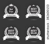 vector badge collection. best... | Shutterstock .eps vector #382600153