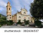 ancient church of sant'ambrogio ... | Shutterstock . vector #382636537
