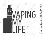 logo of an electronic cigarette ... | Shutterstock .eps vector #382649353