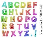 3d rendered rainbow alphabet | Shutterstock . vector #38265742