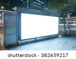a big empty blank billboard... | Shutterstock . vector #382659217