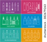 set of elements for vapor bar... | Shutterstock .eps vector #382679263