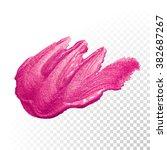 vector pink watercolor brush...   Shutterstock .eps vector #382687267